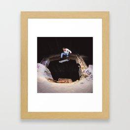 Bam Margra - kickflip at FDR Framed Art Print