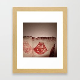 Lips #4 Framed Art Print