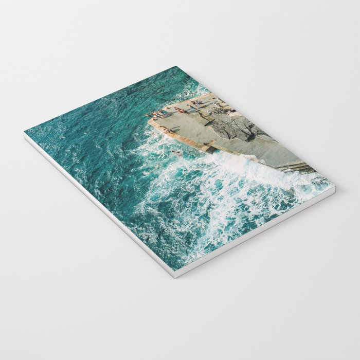 "Travel photography print ""Rocky Beach"" photo art made in Italy. Art Print Notebook"