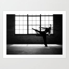 Ballet Dancer Silhouette Art Print