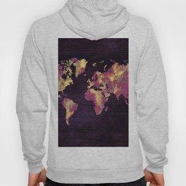 world map 86 red yellow Hoody