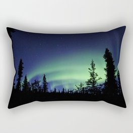 Aurora Borealis Landscape Rectangular Pillow