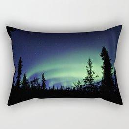Aurora Borealis Landscape Rectangular Pillow