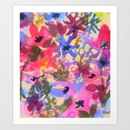 Wildflower Bunches Art Print