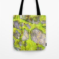 moss Tote Bags featuring Moss by Post Haste Art