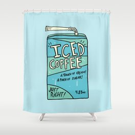 Iced Coffee Juicebox Shower Curtain