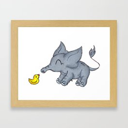 Ducky Buddy Framed Art Print