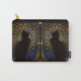 Celestial Sable - Black Cat And Night Magic Mandala Carry-All Pouch