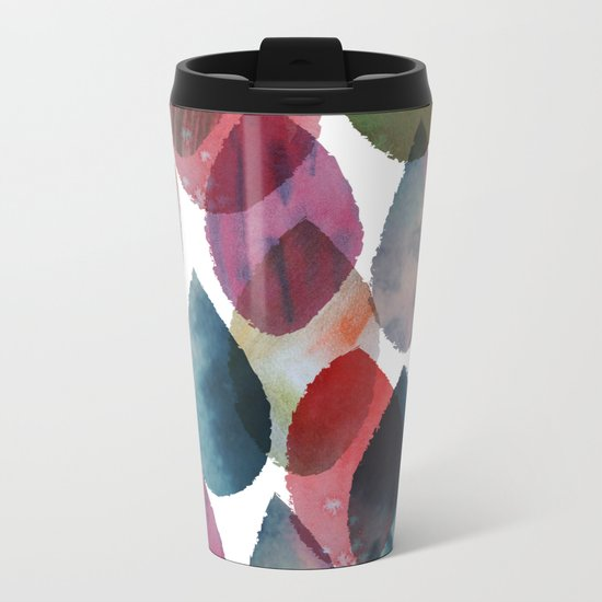 Rainbow Showers Metal Travel Mug