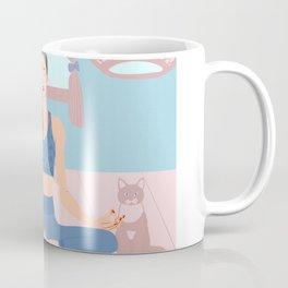 Meditation with a cat Coffee Mug