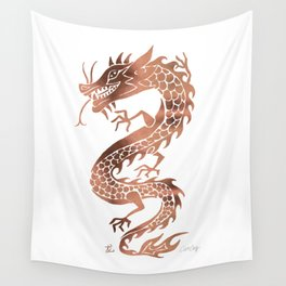 Chinese Dragon – Rose Gold Palette Wall Tapestry