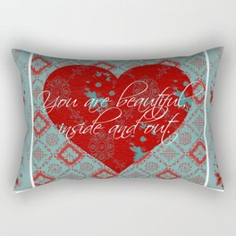 INside and OUt - by Diane Duda Rectangular Pillow
