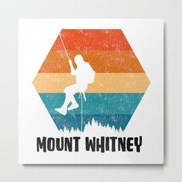 Climbing Gift Tee Climber TShirt Bouldering Shirt Mount Whitney Rock Climbing TShirt  Metal Print