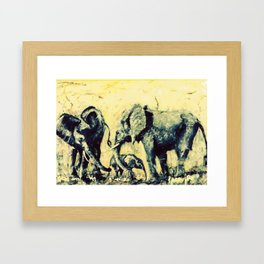 Save the Elephants          by Kay Lipton Framed Art Print
