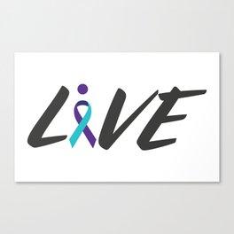 Live suicide prevention awarness Canvas Print