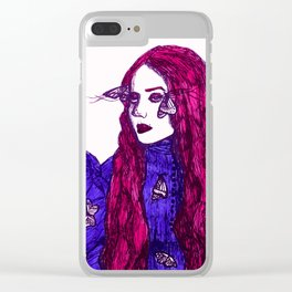 Edith Cushing (Haunted Beauty Series) Clear iPhone Case