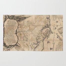 Vintage Battle of Yorktown Virginia Map (1781) Rug