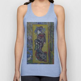 Vincent Van Gogh - Japanese - Oiran (after Kesai Eisen), 1887 Unisex Tank Top