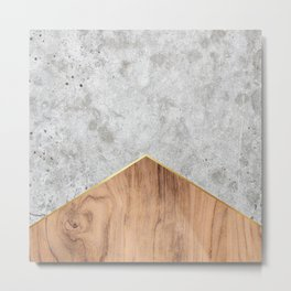 Geometric Concrete Arrow Design - Wood #345 Metal Print