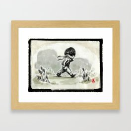 Horace, quietly wandering Framed Art Print