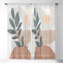 Soft Shapes IV Sheer Curtain