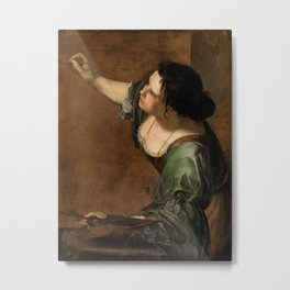 Artemisia Gentileschi, Self-portrait as the Allegory of Painting Metal Print