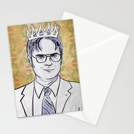 Dwight K. Schrute, King Of Beets Stationery Cards