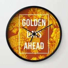 FLOWERS 6 GOLDEN DAYS Wall Clock