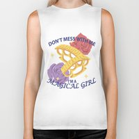 magical girl Biker Tanks featuring Magical Girl by ToppledCards Designs