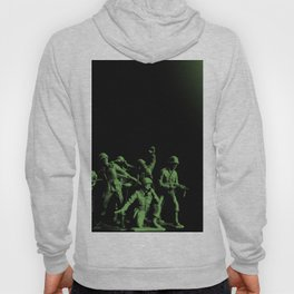 Plastic Army Man Battalion Black and Green Hoody