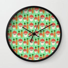 Veggie Patch Wall Clock
