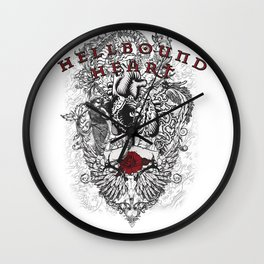 Hellbound Heart Wall Clock