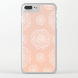 Peach Blush Romantic Flower Mandala Pattern #3 #decor #art #society6 Clear iPhone Case