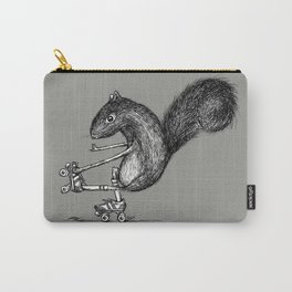 Ride On Squirrel_grey Carry-All Pouch