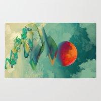sun Area & Throw Rugs featuring Reach the Sun! by Klara Acel