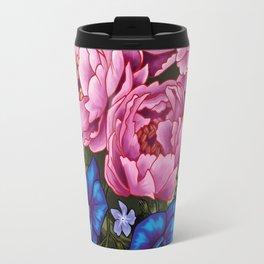 pinky and blue flowers Travel Mug