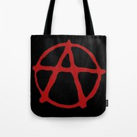 anarchy Tote Bags featuring Anarchy by brett66
