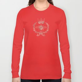 Queen Bee in Rose Gold Pink Long Sleeve T-shirt