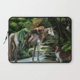 Sleeping Fairy on Unicorn Laptop Sleeve