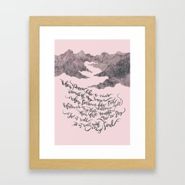 It Is Well With My Soul -pink&grey Framed Art Print