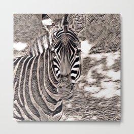 Rustic Style - Zebra Metal Print