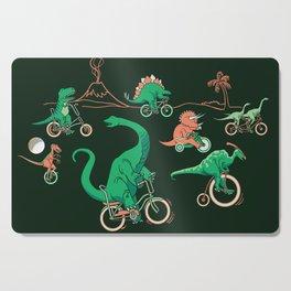 Dinosaurs on Bikes! Cutting Board