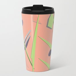 80s Shapes, Colors and Space Metal Travel Mug