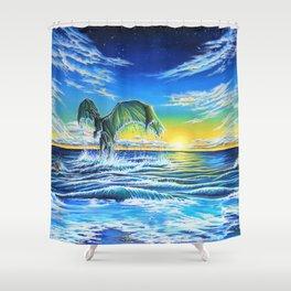 Ascending Tides Shower Curtain