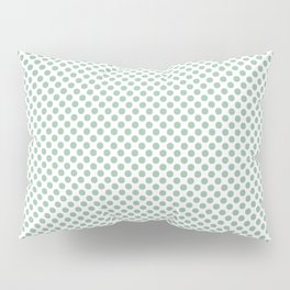 Grayed Jade Polka Dots Pillow Sham