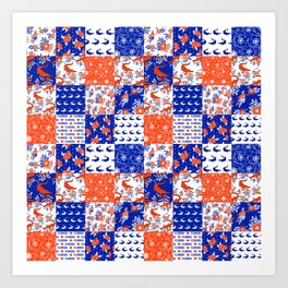 Florida University gators swamp life varsity team spirit college football quilted pattern gifts Art Print