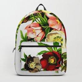 Beautiful Vintage Flower Painting Backpack
