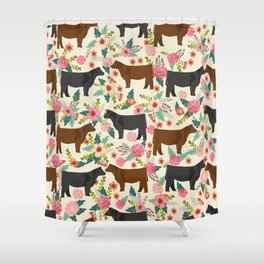 Angus cattle farm friendly gifts perfect for homesteader homestead lover Shower Curtain