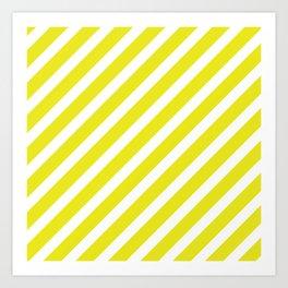 Basic Stripes Yellow Art Print