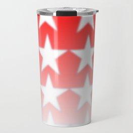 Red and White Stars, Faded Stars, Patriotic Travel Mug